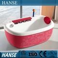 Hs-b1692t preço de fábrica interna pequena e adorável rosa bebê banheira para as crianças