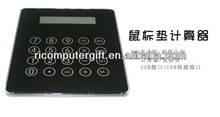 Multifunction 3 port usb hub mouse pad with calculator