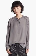 Projetos uniformes escritório para as mulheres side slit hem blusas