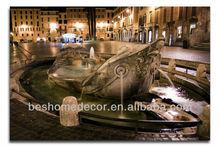 Fontana della Barcaccia Italy modern building lighted wall arts