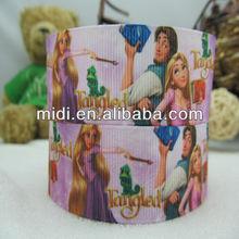 Wholesale 100%polyester princess and prince printed grosgrain ribbon