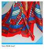 Ladies Fashion 90*90CM Printed Satin Plain Square Shawls