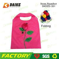 Custom Shopping Rose Folding Bag DKDZD-354