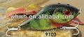 Tirón cebo de pesca con señuelos de plástico duro 100mm/47g