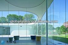 Haute qualité 19 mm verre épais en dehors du fabricant de paroi