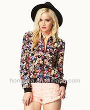 Digital Printing Floral Bomber Jacket HSC8158