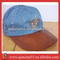 Moda verão condução tampa chapéus feitos de material reciclado de couro personalizado snapback borda