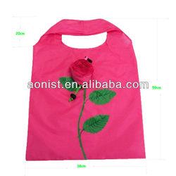 2013 high quality creative foldable rose flower folding shopping bag