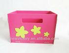Recycled cardboard decorative storage box