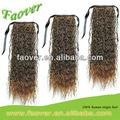 Cordon queue de cheval cheveux humains, extension de cheveux de queue de cheval