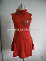 Merino wool Sleeveless fishtail skirt