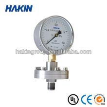 Stainless steel Tri-clamp Health type diaphragm Pressure Gauge
