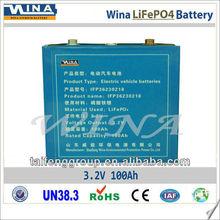 100Ah Prismatic LiFePO4 electric car battery