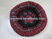 Pet Bed Scottish Plaid Style Dog Bed Cushion