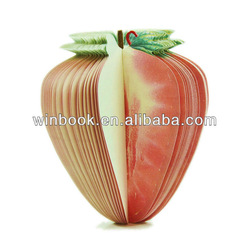 Promotion&gift Strawberry 3D Fruit Shape Note