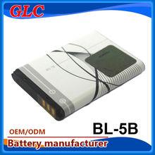 New original battery bl-5b 900mah 3.7v li-ion batery by China manufacturer
