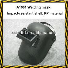 Black welding helmet for welder