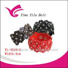 flower fashion pu leather bracelet 2013