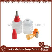 2pcs cake decorative bottle with nozzle