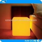 Led furniture led cube ottomans 40*40*40