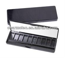 empty eyeshadow palette OEM cosmetic packaging eco empty eyeshadow case with mirror