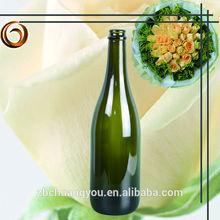 750ml Dark Green champagne wedding bottles