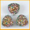 D073115 Multicolor rainbow agate druzy drusy cabs