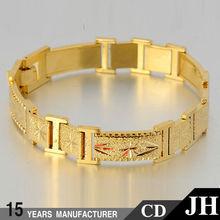 JH 18k 22k Custom Gold Bracelet Designs Men