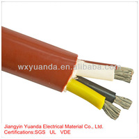 Silicone rubber flat flexible cable