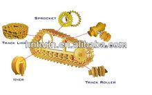 mini excavator parts driving wheel track roller carrier roller sprocket idler teeth cutting edge excavator undercarriage parts
