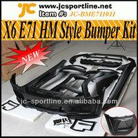 X6 E71 Wide Car Bodykit For BMW X6 E71 Bumper HM Styling
