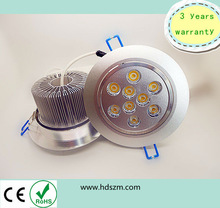 LED Downlight can instead of 27w efficient light,9x1w down light,aluminum light pole