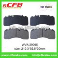 Cerâmica disco de freio pad wva29095 para benz tourino, iveco eurocargo, homem m
