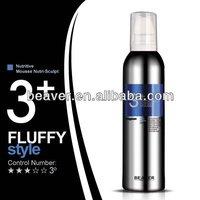 Heat defense high glossy hair mousse