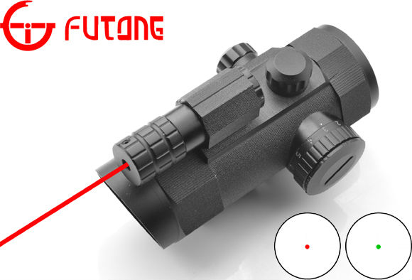 Rifle Scope 1x30 Red Dot (W/Red laser) (W/21mm or 11mm Mount) Riflescope Optical Red Dot Sight Scope