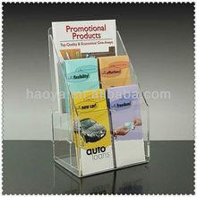 2013 3-layer Acrylic Booklet Holder Acrylic Magazine Rack China Manufacturing