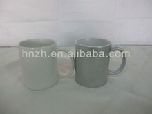 Ceramic mug magic with decal grey and white color