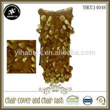Polyester apple petal taffeta luxury chair back cover