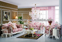European style solid wood carving antique sofa furniture RA019