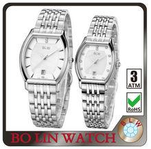 2013 elegant luxury lover watches stainless steel case back genuine leather strap swiss or japan movt women men quartz watch
