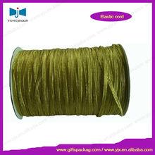 Shiny flat knitted elastic tape