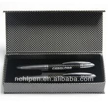 Luxury design carbon fiber roller ball pen with pen box(VAL15-136)