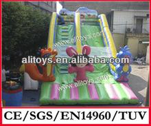 cute cartoon inflatable slide/used slide inflation