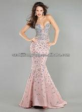 SJ1193 new design custom good quality low price beaded evening dress 2013