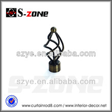 twisted rattan wrought iron curtain rods finials for home decoration in curtain