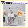 For iphone 5 5S dancing queen diamond case,3D pearl Ballet girl diamond case for iPhone 5,5s