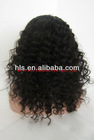 3/4 hair wig,18'',natural color ,wave,100% human hair wig accept paypal payment