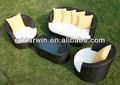 Lazer UV moderno sofá / rattan conjunto de sofá SV-6422