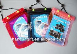 Plastic waterproof cell phone bag
