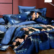 Microfiber disperse bedding set 4pcs,Titanic romantic design